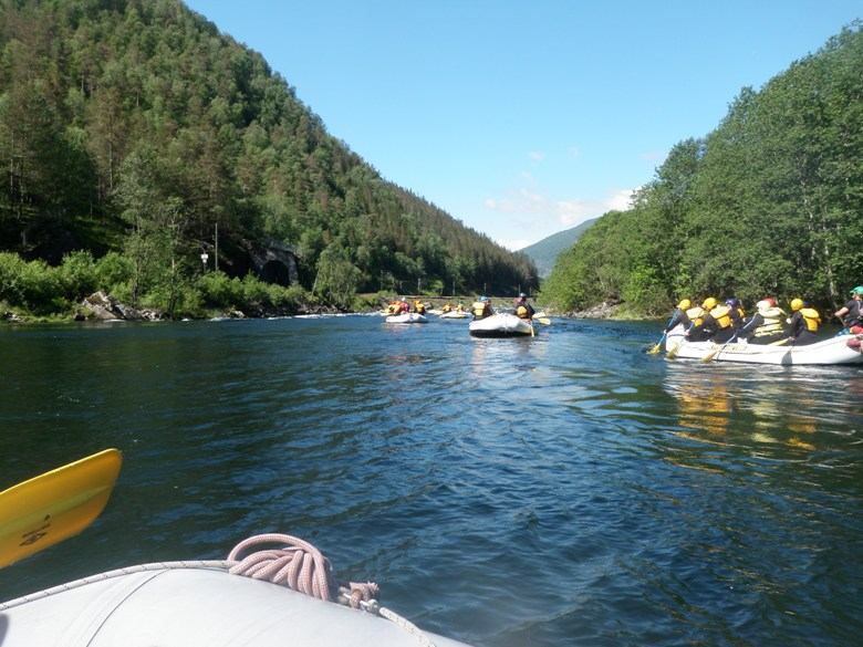 Rafting on the Stranda River in Voss Norway