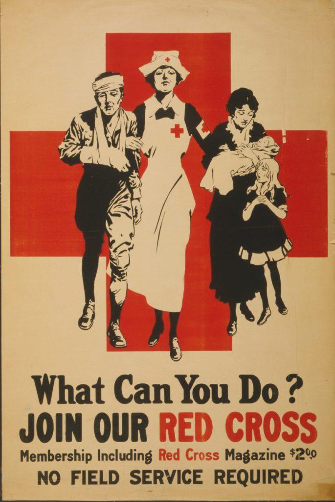 Red Cross poster, WWI era