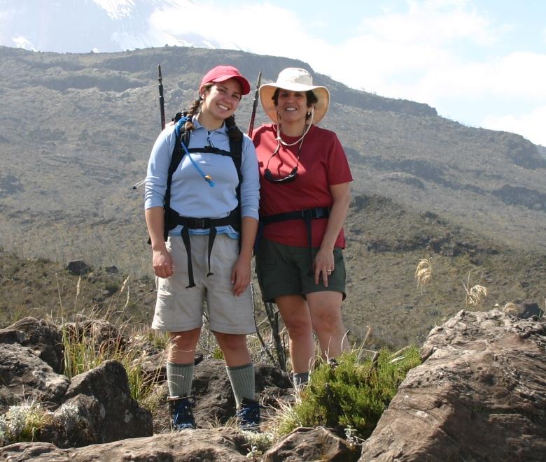 Reggie and Eileen on the Kilimanjaro trek