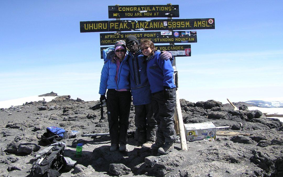 At the summit of Kilimanjaro