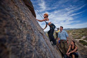 Rock climbing near the Boulders Resort in Scottsdale AZ