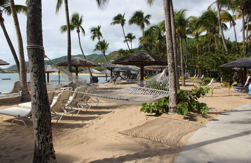 Returning to Curtain Bluff, still small and elegant after 55 years