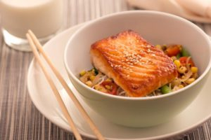 Salmon Teriyaki for Kids by Hyatt