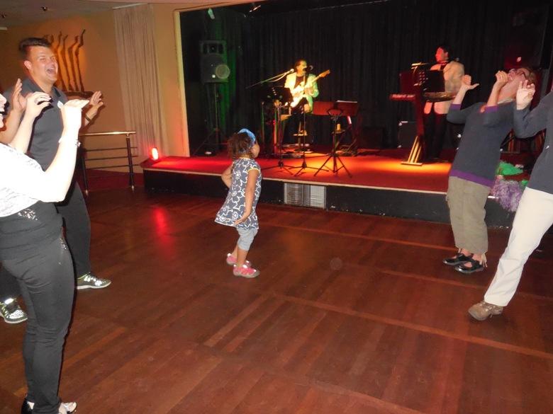 Sara Sofia dancing on Junior Adventure night