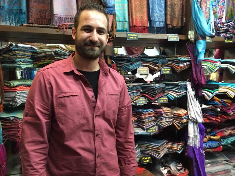 Scarf merchant in Kusadasi