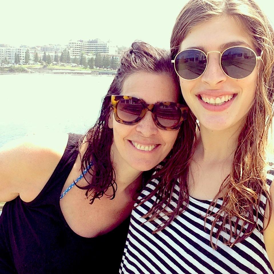 Tibaldis selfie at a Sydney beach