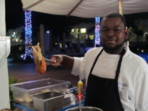 Serving up spiny lobsters at the CuisinArt Anguilla