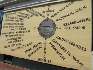 Sign commemorating Nantucket as a center of world commerce