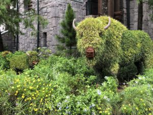 Signature Disney topiary at the Wilderness Lodge