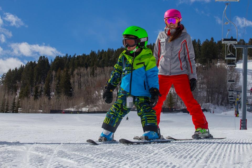 Ski school at Aspen's Buttermilk Mountain