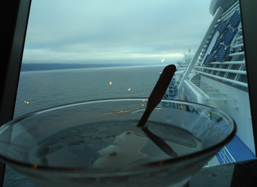 Scenic view from the Skywalkers Bar of the Diamond Princess