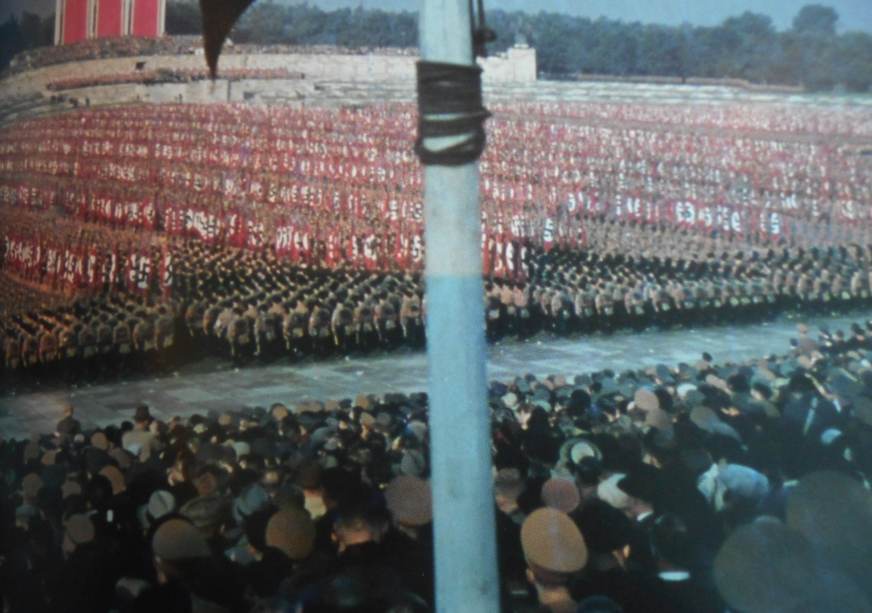 One of the annual Nazi political rallies in Nuremberg in the 1930s