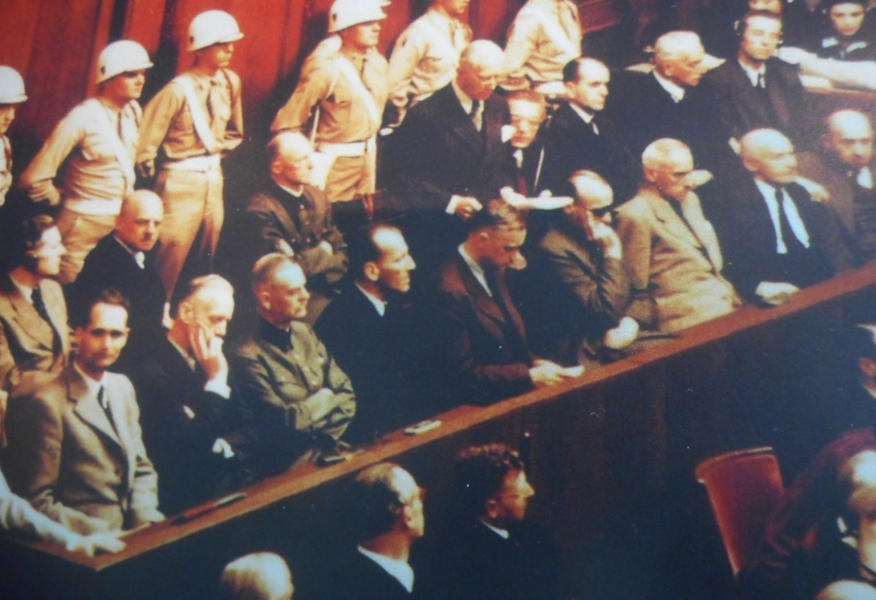 Nazi war criminals on trial in Courtroom 600 in 1945-46