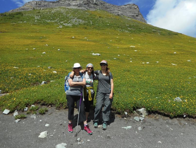 Eileen Mel and Reg on the Scarp Ridge hike