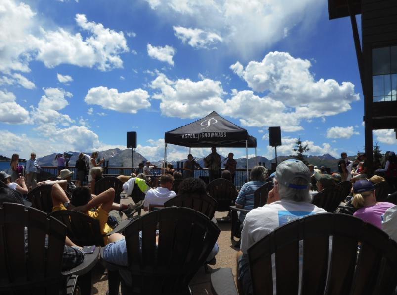 Bluegrass concert atop Aspen Mountain