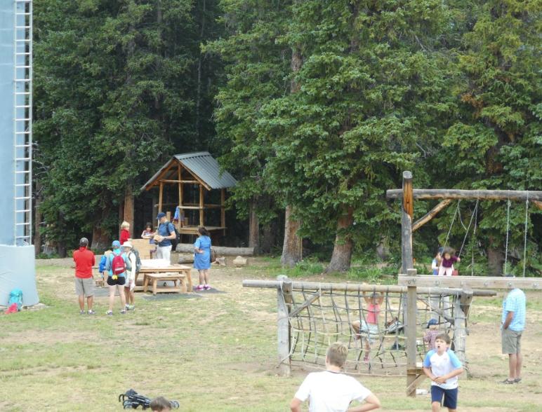 Kids activities atop Aspen Mountain