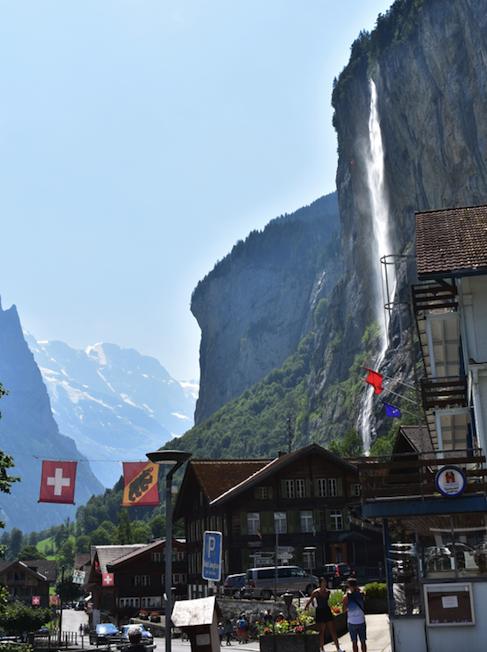 Staubbach Falls in Lauterbrunnen Switzerland