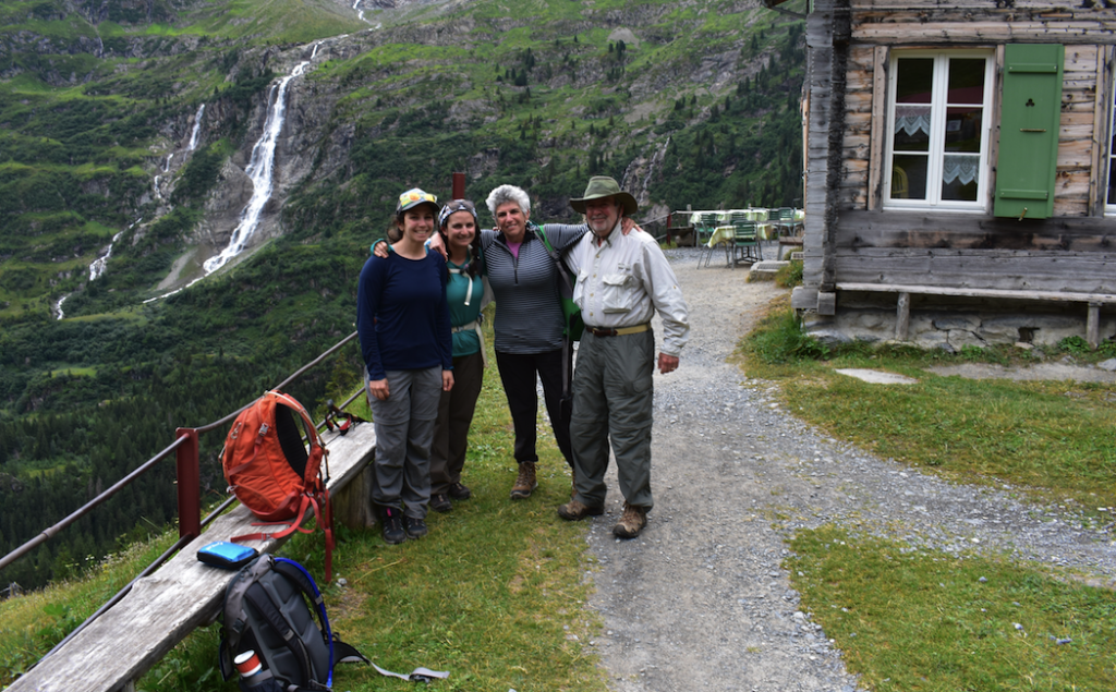 Exhausted but happy on arrival at Obersteinberg
