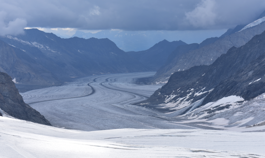 23 KM glacier seen from Top of Europe