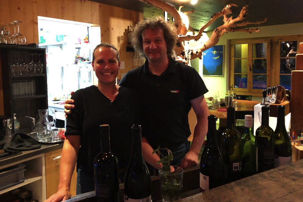 Myriam and Bruno Kaufmann, owners of Cafe 3692