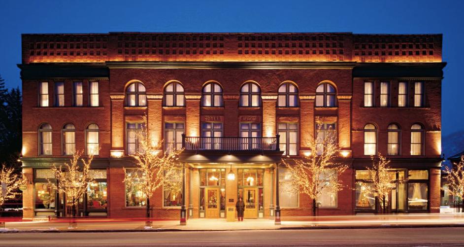 The historic Hotel Jerome in Aspen CO