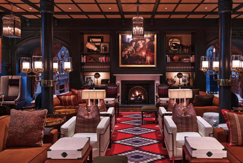 """The """"living room"""" in the Hotel Jerome"""