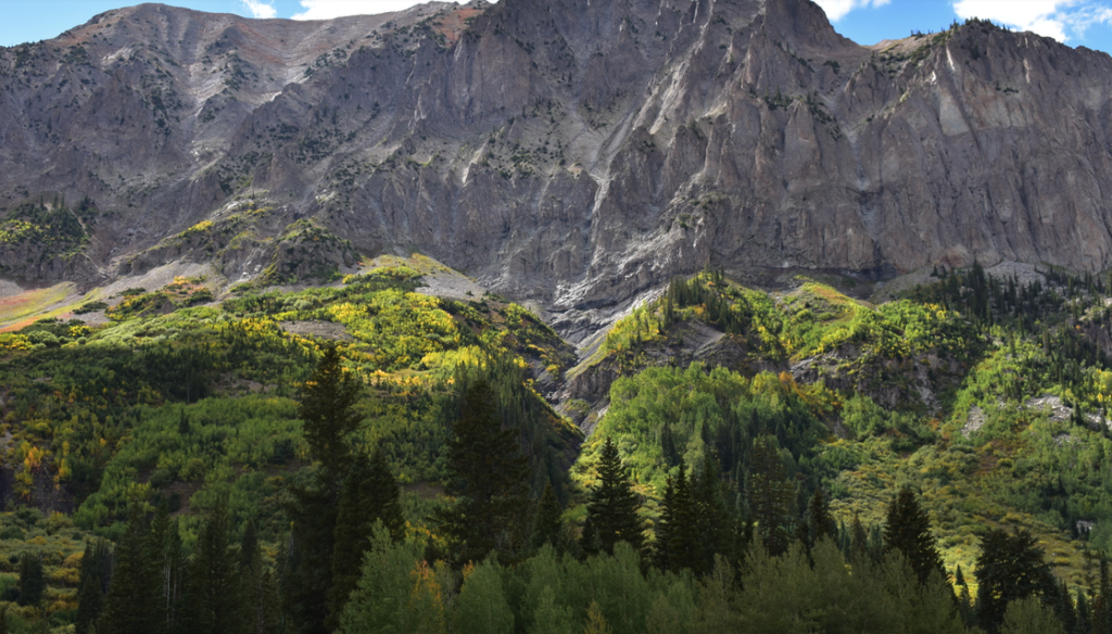 View of 12,000-foot Gothic Mountain near Crested Butte CO