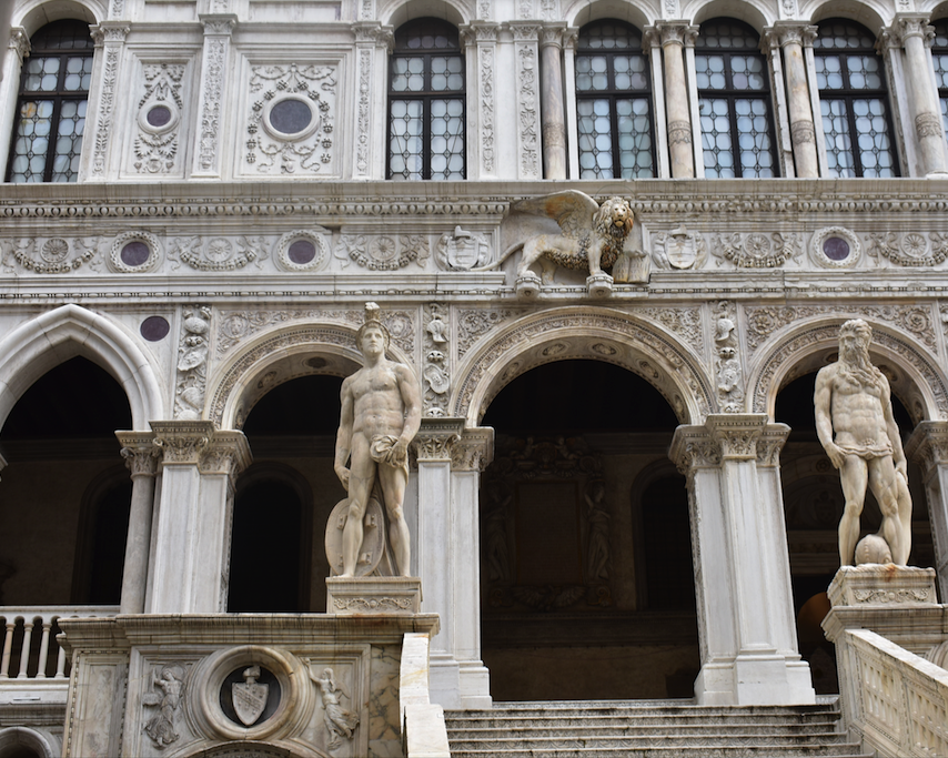 Entering the Doges Palace