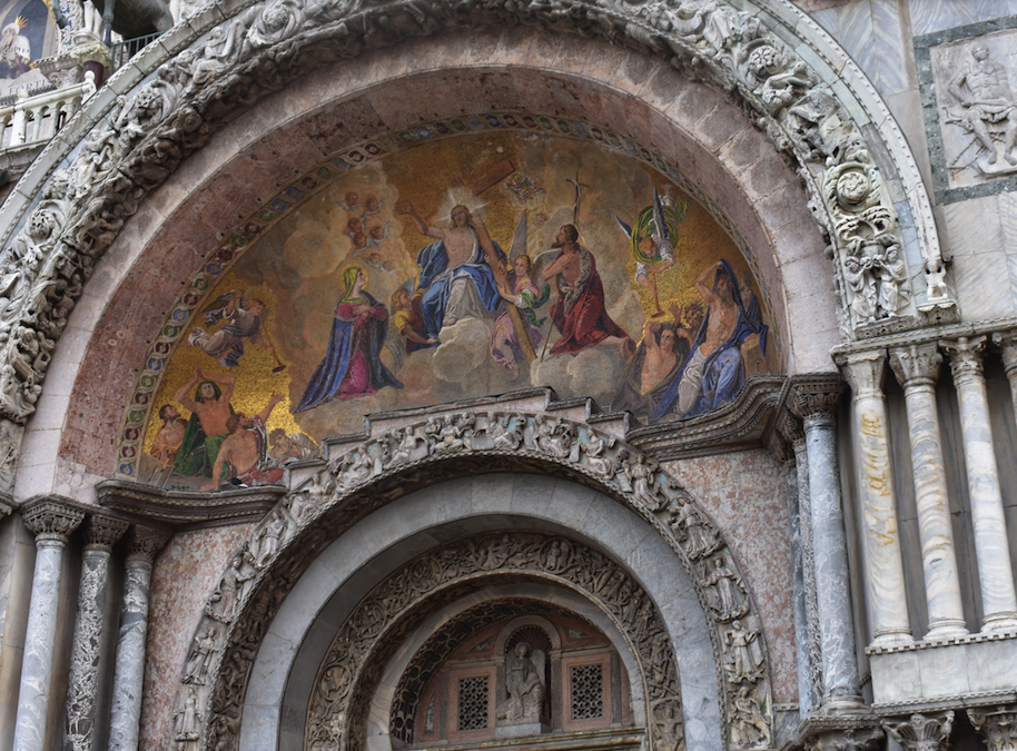 Mural over the main entrance to St Marks Basilica