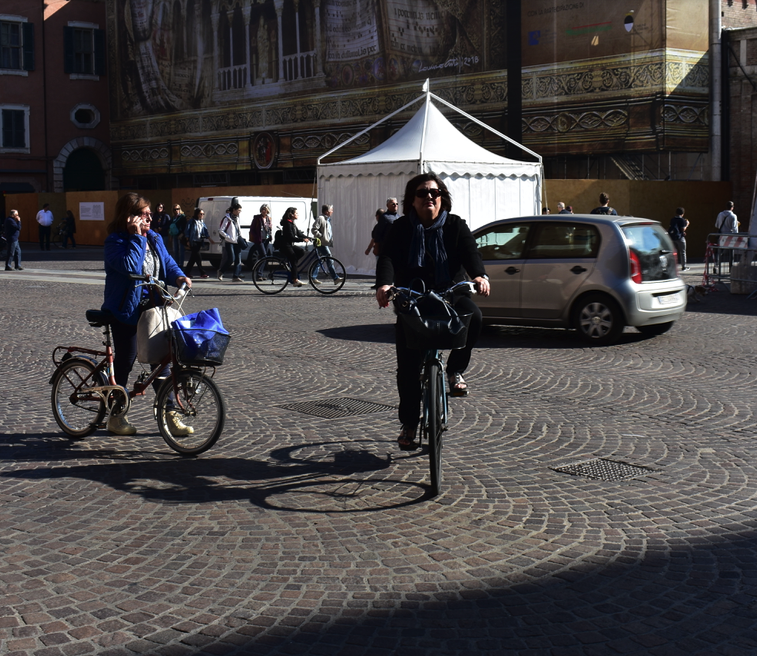 In Ferrara, an Italian town with more bicycles than people