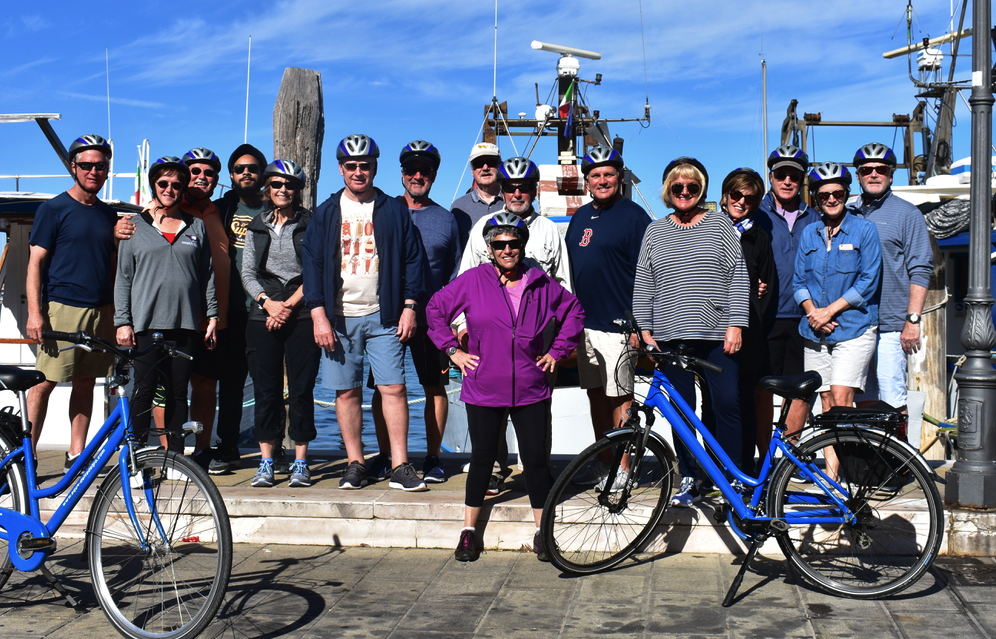 Group from bike trip at Chioggia
