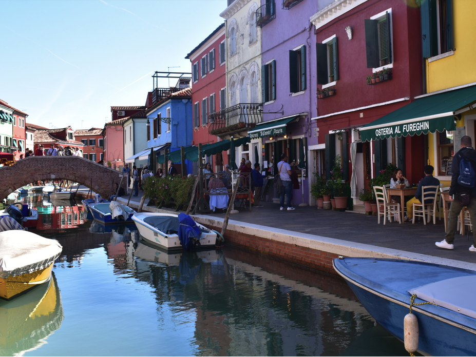 The main canal in Burano