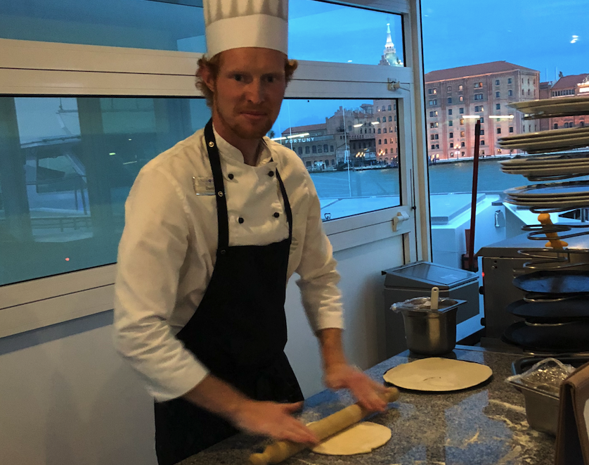 Pizza baker David Greenhalgh, from Manchester England