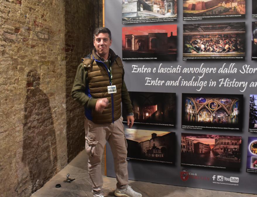 Our guide in Perugia Paolo Sperini