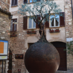Another quirky though beautiful sculpture in Spello