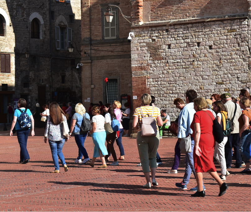 Although tourists come to Gubbio, it is less traveled than towns like Assisi and Perugia