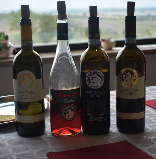 The Dionigi wines being put to use