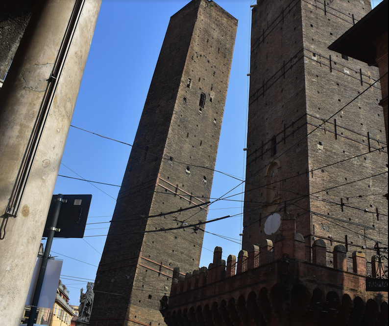 Bologna has several towers that lean - but are not as famous as the one in Pisa