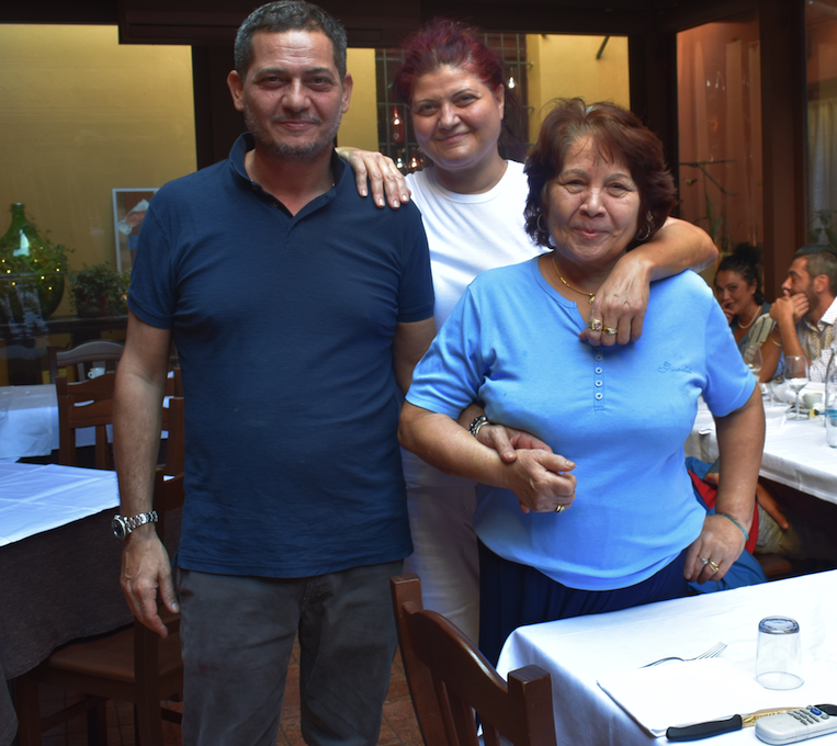 The family that has owned Trattoria Pizzeria Belle Arti since 1998, We ate a delicious lunch here