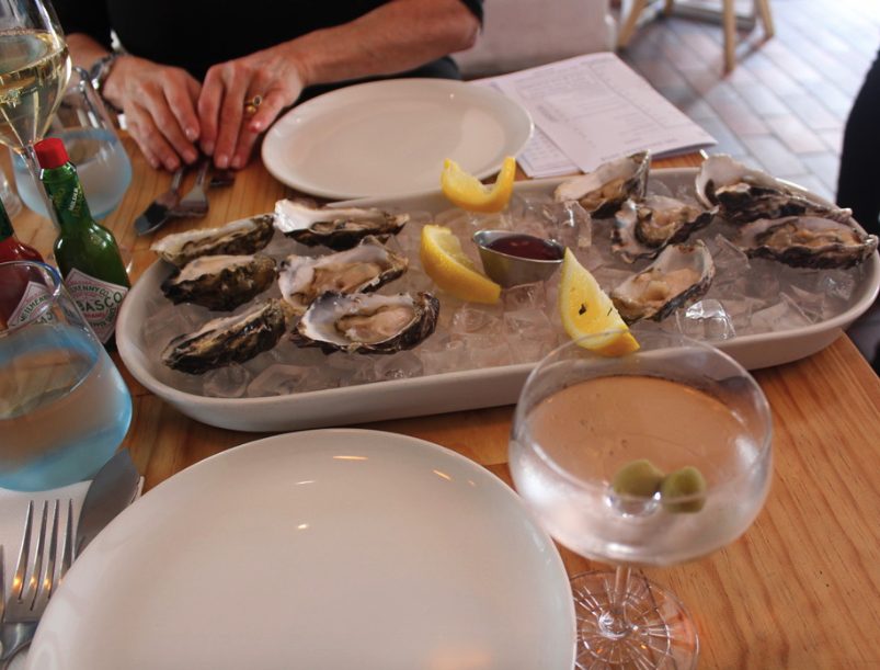 Fresh tasty and cheap oysters at the Sea Breeze in Cape Town