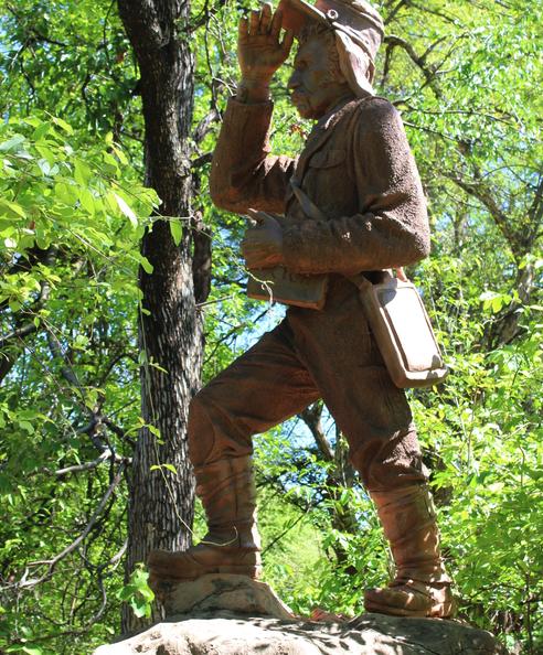 Statue of Dr. David Livingstone in Victoria Falls park