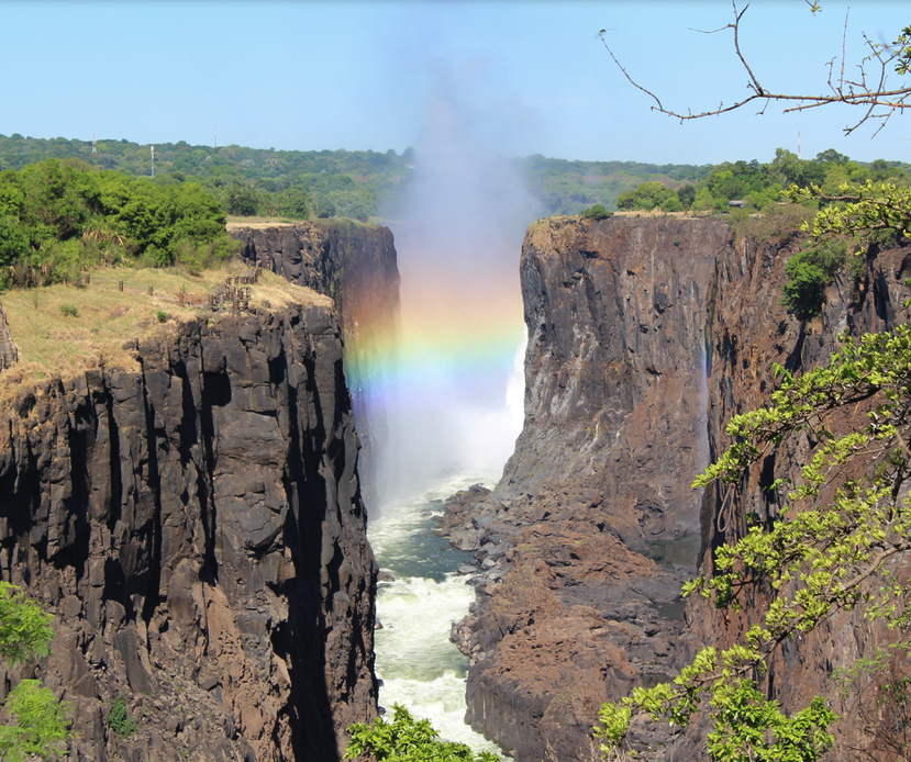 View of Victoria Falls from the Zambia side