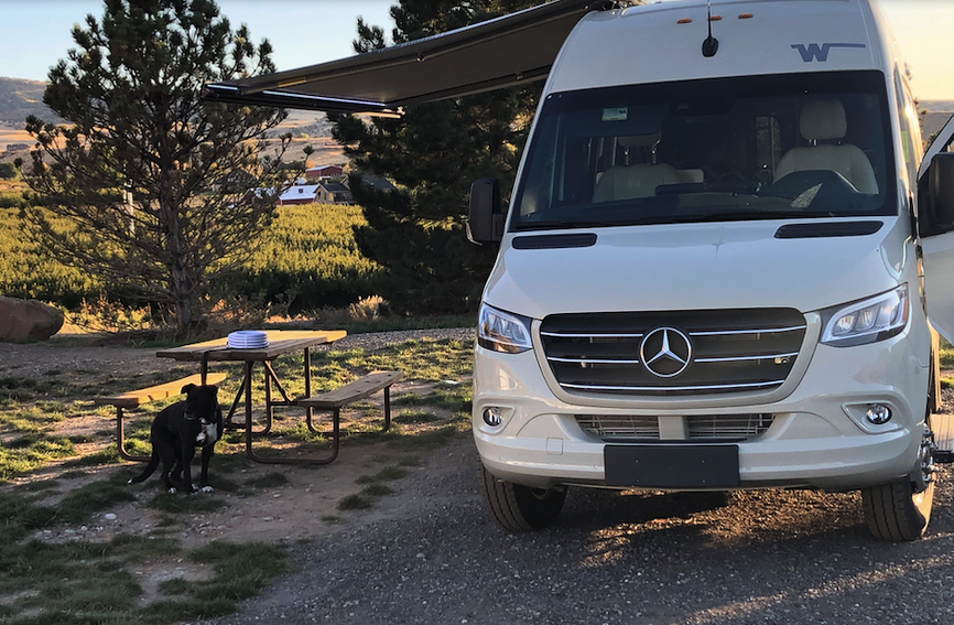 Our first stop - Palisade CO Basecamp RV Park