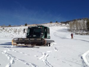 Snow Cat backcountry skiing at C Lazy U