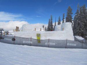 Snow fort at Keystone Resort in Colorado