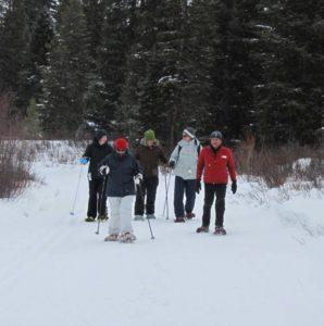 Snowshoeing in the Breckenridge Nordic Center