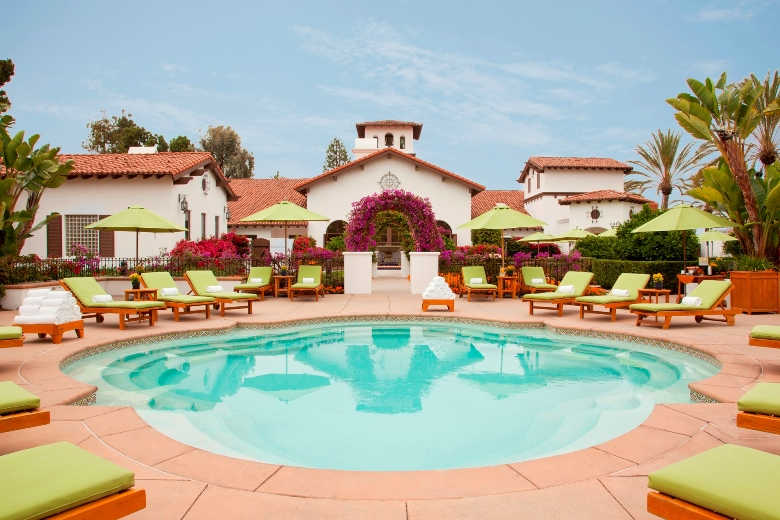 Relaxing and thinking fitness at the Omni La Costa Resort and Spa in CA