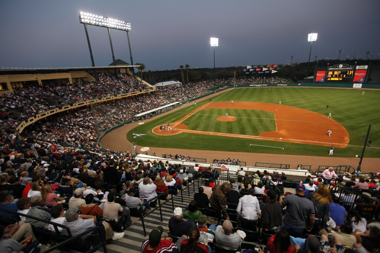 Spring training – where families get up close with ballpayers