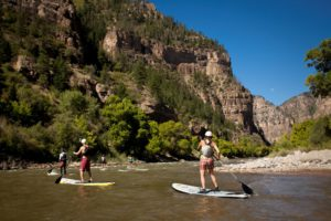 Standup paddleboarding is one of the many summer activities in Aspen
