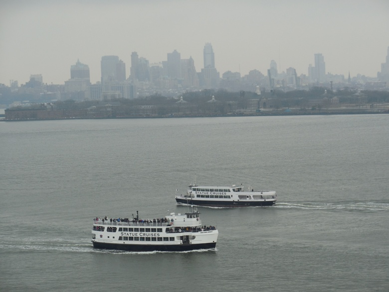 Statue Cruises seen from pedestal of Statue of Liberty